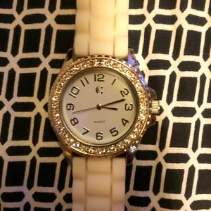 White band charming Charlie watch